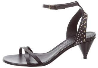 Burberry Embellished Leather Sandals