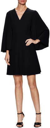Alexander McQueen Silk Cape Dress