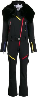 Rossignol faux-fur trim ski suit