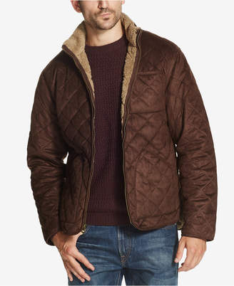 Weatherproof Vintage Men's Quilted Faux-Suede Fleece-Lined Jacket