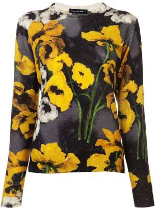 Samantha Sung floral fitted sweater