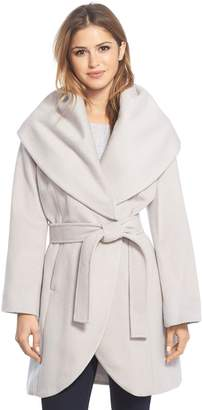 Tahari Wool Blend Belted Wrap Coat
