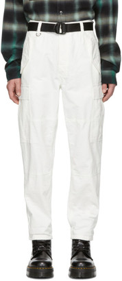 Ksubi White Raws Cargo Pants