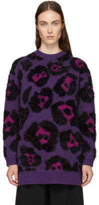 Marc Jacobs Purpe Knit Tunic Sweater