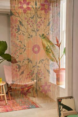 Rosa Floral Bamboo Beaded Curtain