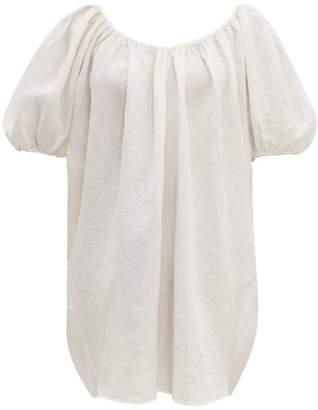 Mara Hoffman Odine Puff Sleeve Linen Dress - Womens - White