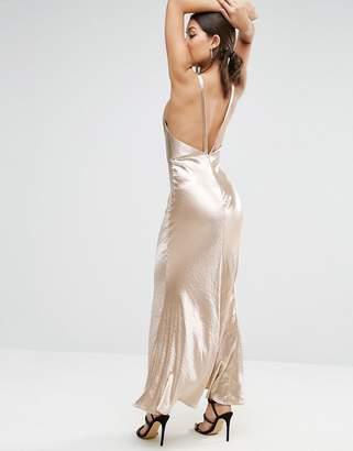 ASOS Satin Strap Back Bias Cut Maxi Dress $98 thestylecure.com