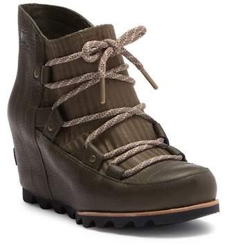 Sorel Sandy Leather Wedge Boot