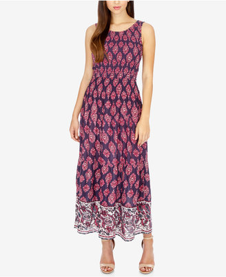 Lucky Brand Printed Smocked Maxi Dress $139 thestylecure.com