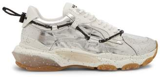 Valentino Bounce Metallic Trainers - Mens - Silver
