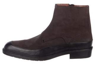 a. testoni a.testoni Suede Wingtip Ankle Boots
