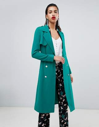 Morgan belted duster coat