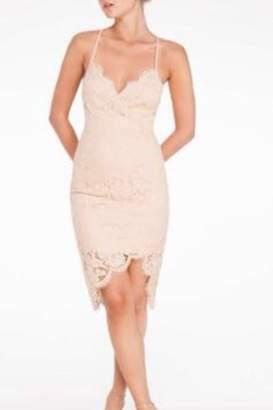 Mystic Nude Lace Dress