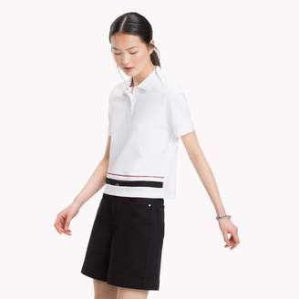 Tommy Hilfiger Cropped Embroidered Trim Polo