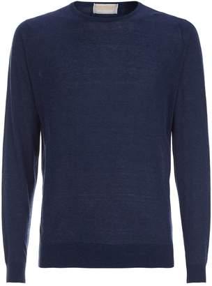 John Smedley Cotton-Cashmere Fine Knit Sweater