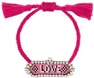 Shourouk 'Love' beaded bracelet