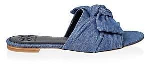Tory Burch Women's Annabelle Denim Bow Slide Sandals