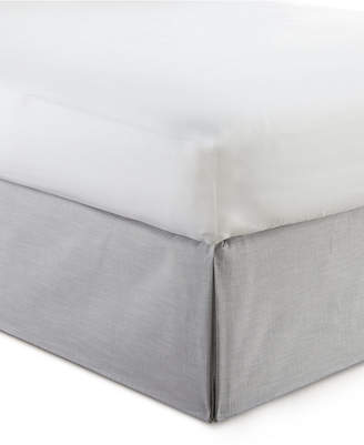 "Colcha Linens Cambric Solid Grey Bedskirt 15"" Drop Twin/Twin-xl Bedding"