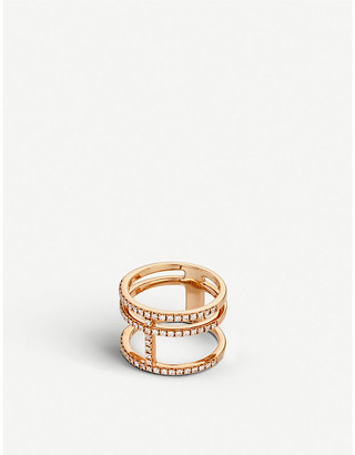 Rosegold BUCHERER JEWELLERY Classics Collection 18ct rose-gold and diamond ring