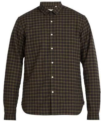 Oliver Spencer Clerkenwell Checked Cotton Blend Shirt - Mens - Brown Multi