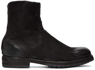 Officine Creative Black Lowry 006 Vertigo Boots