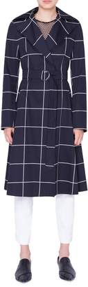 Akris Punto Grid Jacquard Trench Coat