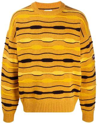 Martine Rose Napa By striped ribbed neck jumper