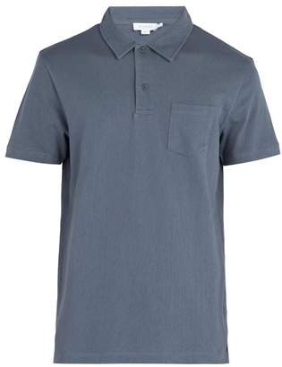 Sunspel Riviera Cotton Polo Shirt - Mens - Blue