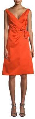 Prada Radzmir Faux Wrap Bow A-line Dress