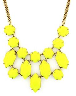 Vince Camuto Vince CamutoTM Bright Gems Goldtone and Lemon Bib Necklace