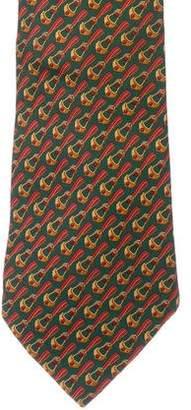 Gucci Stirrup Print Silk Tie