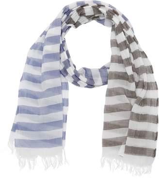 Il Gufo Striped Cotton Garza Scarf