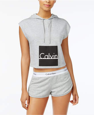 Calvin Klein Sleeveless Graphic Hoodie QS5651
