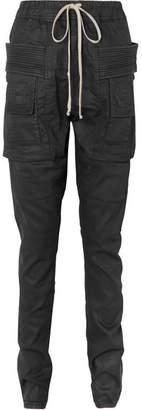 Rick Owens Coated Denim Tapered Pants - Black