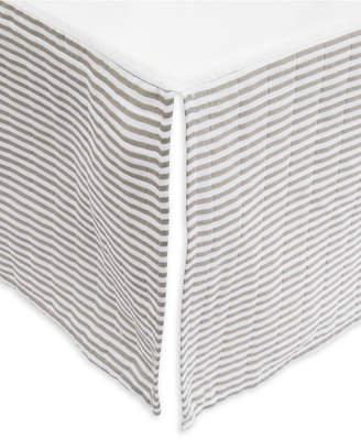 Little Unicorn Grey Stripe Cotton Muslin Crib Skirt