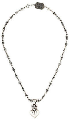 King Baby Studio Queen Baby Crowned 3D Heart Pendant Necklace $295 thestylecure.com