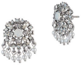 Marchesa Button Crystal Chandelier Earrings