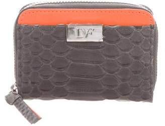 Diane von Furstenberg Embossed Compact Wallet w/ Tags