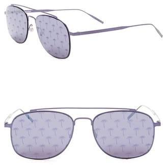 Tomas Maier 53mm Square Aviator Sunglasses