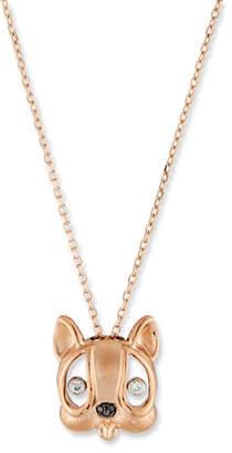 Stevie Wren Diamond Dog Pendant Necklace