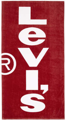 Levi's Levis Red and White Logo Towel