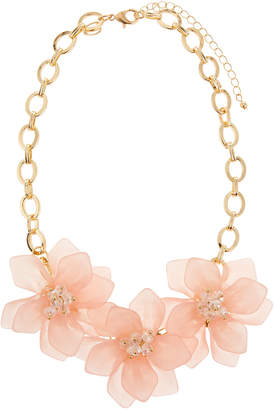 Fragments for Neiman Marcus Flower Statement Necklace, Pink