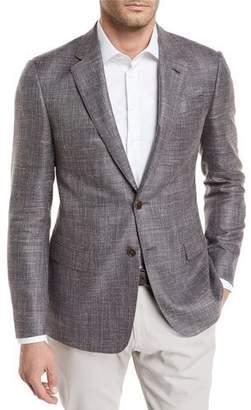 Giorgio Armani Melange Wool-Blend Sport Coat