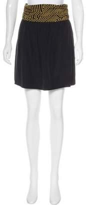 Loeffler Randall Silk Mini Skirt
