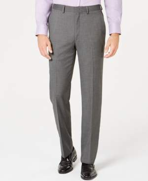 Ryan Seacrest Distinction Men's Ultimate Moves Modern-Fit Stretch Black/White Birdseye Suit Pants, Created for Macy's