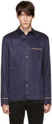 3.1 Phillip Lim Navy Pyjama Shirt $375 thestylecure.com