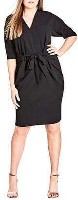 City Chic Tie Front Dress