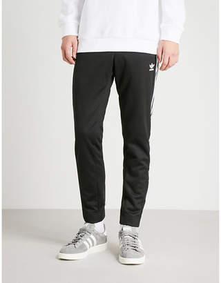 adidas Snap-fastening sports-jersey jogging bottoms