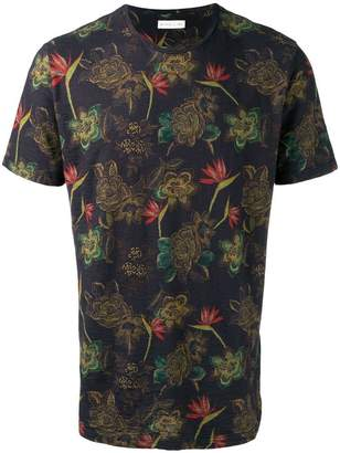 Etro dark floral print T-shirt