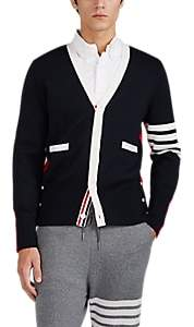 Thom Browne Men's Colorblocked Compact-Wool V-Neck Cardigan